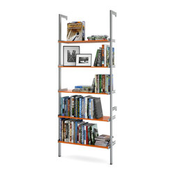 """ISS Designs - PAL33 33"""" Pole Mounted Aluminum Shelving, Orange - *See 2nd image for color."""