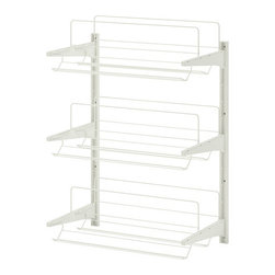 Algot Wall Upright/Shoe Organizer, White - Keep shoes nicely stored on a wire shoe rack.