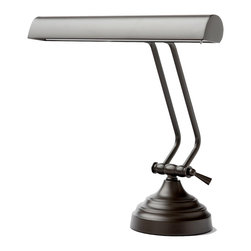 Cocoweb, Inc. - Cocoweb 12 inch Shade Desk Lamp, Mahogany Bronze - Our BRAND NEW Cocoweb LED Piano/Desk Lamp is designed for multi-functional purposes. It can be used as a reading lamp, a piano lamp, or a general purpose desk lamp. This lamp has a high quality durable stainless steel body with a mahogany bronze finish featuring the ultimate level of craftsmanship and refinement. The lamp has a one-point adjustability feature allowing you to adjust the lamp to your desired height. This Cocoweb eco-friendly LED piano/desk lamp provides flicker-free lighting and does not contain any mercury or emit harmful UV radiation. This lamp uses less than 10 watts of power to provide a superior light than that of a 120 watt incandescent bulb, and will last more than 50,000 hours. It is an irreplaceable lamp that will save you money in energy costs and will pay for itself within the first 2-3 years. With normal usage of 5 hours a day, this lamp should last you a good 20 years!