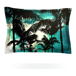 "Kess InHouse - Caleb Troy ""Palm Trees & Stars"" Pillow Sham (Woven, 30"" x 20"") - Pairing your already chic duvet cover with playful pillow shams is the perfect way to tie your bedroom together. There are endless possibilities to feed your artistic palette with these imaginative pillow shams. It will looks so elegant you won't want ruin the masterpiece you have created when you go to bed. Not only are these pillow shams nice to look at they are also made from a high quality cotton blend. They are so soft that they will elevate your sleep up to level that is beyond Cloud 9. We always print our goods with the highest quality printing process in order to maintain the integrity of the art that you are adeptly displaying. This means that you won't have to worry about your art fading or your sham loosing it's freshness."