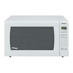 Panasonic - Panasonic 2.2 Cubic-Foot Microwave- White - Luxury Full Size Microwave Oven: 2.2 cu ft. 1250 watts cooking power.  Easy to use button control.  One-touch sensor cooking (9 categories).  One-touch sensor reheat.  Inverter Turbo Defrost.  Multi-lingual menu-action screen.  White.