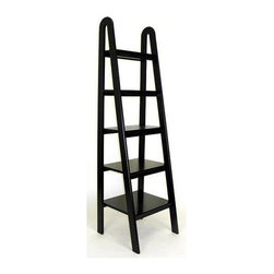 Wayborn - Ladder Shelf - Made from wood. Five shelves. 19 in. W x 19 in. D x 67.5 in. H (39 lbs.)