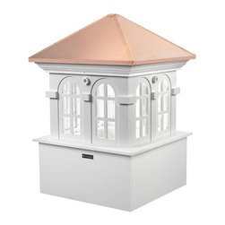 Good Directions Smithsonian Chesapeake Cupola - It's the perfect complement to your home or two-car garage or gazebo, our expertly crafted Chesapeake window cupola carries the logo of the highly prestigious Smithsonian Collection by Good Directions. It's made in the USA from durable white PVC-vinyl for many years of enjoyment. The polished copper roof adds an architectural element of beauty. Includes an easy-to-follow installation guide. For a really distinctive finishing touch, add a Good Directions weathervane or finial!
