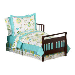 Sweet Jojo Designs - Layla 5-Piece Toddler Bedding Set by Sweet Jojo Designs - The  toddler bedding by Sweet Jojo Designs includes: comforter, sham, pillowcase, fitted sheet and a flat sheet.