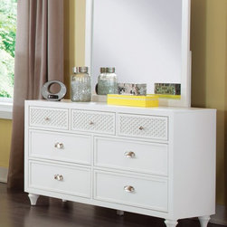 My Home Furnishings - My Home Amanda Double Dresser With Seven Drawers - Updated and unique designs