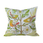 DENY Designs - Cori Dantini Community Tree Throw Pillow, 20x20x6 - Chirping birds. Blossoming branches. Bring springtime cheer to any room — no matter what the season — with this softly colorful pillow.