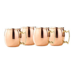 "Old Dutch International - Solid Copper ""Mug Shots"" Set of 4 - Give these novelty mugs a shot while tending bar at your next bash. Made of gleaming solid copper, they're a functional, fun and a real conversation-starter.  Each holds 2oz."