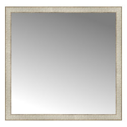 """Posters 2 Prints, LLC - 36"""" x 35"""" Libretto Antique Silver Custom Framed Mirror - 36"""" x 35"""" Custom Framed Mirror made by Posters 2 Prints. Standard glass with unrivaled selection of crafted mirror frames.  Protected with category II safety backing to keep glass fragments together should the mirror be accidentally broken.  Safe arrival guaranteed.  Made in the United States of America"""