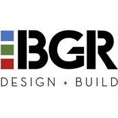 Blue Green & Red Construction Logo
