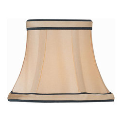 Lite Source - Candelabra Shade/Light Gold With Black Trim - 3Tx5Bx4Sl - Candelabra Shade/Light Gold With Black Trim - 3Tx5Bx4Sl