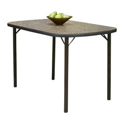 "Cramco - Cramco Heath Bow-End Woodstock Granite Laminate Top Dining Table, 48"" - Features:"