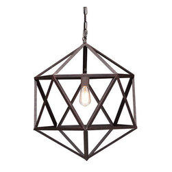 Geometric Ceiling Lamp - Small - This amazing lamp will be a stunning addition to any room in the house. Spice up your bedroom décor with this piece, or let it be the star design piece in your living room. No matter where this Geometric Ceiling Lamp goes, it's sure to stir up oohs and ahhs of delight.