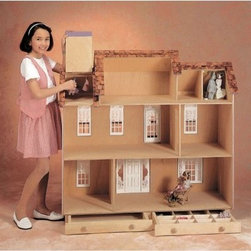 Real Good Toys Playscale® Estate - The Real Good Toys Playscale Estate is nearly four feet tall making for a deluxe dollhouse that your child will adore. This is a complete kit and will include all the pieces that you need to build what is shown.* The precision workmanship ensures that the pieces are cut to their appropriate sizes for the builder.** Other features include: Fancy porch posts and spindles Pre-assembled windows and doors Wooden shingles for the roof Step-by-step instructions with detailed drawings 14-inch floor to ceiling height Jamestown exterior does not include trim Palladian exterior does not include acrylic Second floor balcony and large front porch Sturdy construction features 3/8-inch thick cabinet grade plywood 2 full length closets and 2 handy storage drawers Windows do not include acrylic Recommended supplies: hammer glues utility knife masking tape sandpaper (100 and 320) *Paint glue curtains and any landscaping or furnishings are not included.Gingerbread (if used) and Trim Strips are supplied in easy to cut lengths.The overall dimensions of each dollhouse include items that protrude such as porches and roof cresting.Our products are not recommended for children under the age of 3. About Real Good ToysBased in Barre Vt. Real Good Toys has been handcrafting miniature homes since 1973. By designing and engineering the world's best and easiest to assemble miniature homes Real Good Toys makes dreams come true. Their commitment to exceptional detail the highest level of quality and ease of assembly make them one of the most recommended names in dollhouses. Real Good dollhouses make priceless gifts to pass on to your children and your children's children for years to come.