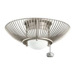 Kichler Lighting - Kichler Lighting 380114NI Wire Frame Ceiling Fan Light Kit - Kichler Lighting 380114NI Wire Frame Ceiling Fan Light Kit