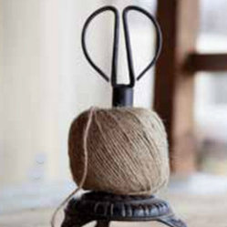 Cast Iron Stand Twine Holder and Scissors