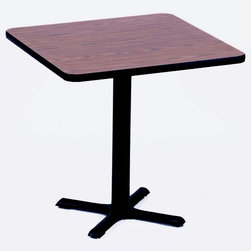 Correll Inc - Square Cafe Breakroom Top in Walnut (42 in. S - Finish: 42 in. Square/Black GraniteColumn and base not included. Pictured in Walnut. 24 in. Square. 30 in. Square. 36 in. Square. 42 in. Square