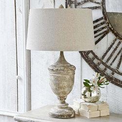 Regina Andrew - Regina Andrew Gesso Wood Vase Table Lamp - Gesso wood vase table lamp.