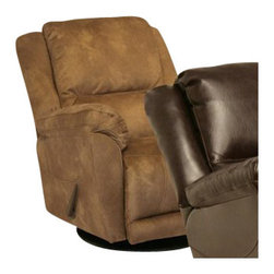 Catnapper - Catnapper Maverick Chaise Swivel Glider Recliner Chair in Saddle - Catnapper - Recliners - 45465235244 - Designed for ultimate comfort, the Maverick Chaise Swivel Glider Recliner by Catnapper offers Massive Scale and Incredible Comfort. This amazing recliner features supportive headrest, deluxe pub back with decorative wings, radius arms, and plush comfort. This massive recliner can swivel 360 degrees and is available in three colors; stone microfiber, saddle microfiber, and java bonded leather. The rich upholstery is additionally enhanced by detailed sewing. Create the ultimate in relaxing living space with the comfort and style of the Maverick Chaise Swivel Glider Recliner!