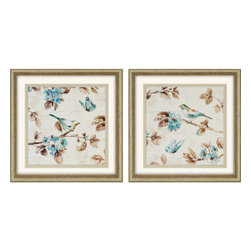 Paragon - Wing Prints PK/2 - Framed Art - Each product is custom made upon order so there might be small variations from the picture displayed. No two pieces are exactly alike.