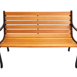 Kontiki - Kontiki Porch Seating - Wood Composite Benches - [1.0 each/box] - Park Bench -  Relax on the deck, in the garden, or on your terrace with one of these stylish and long lasting benches from Kontiki.  You can achieve casual outdoor living at its best with BuildDirect's help  Create an outdoor ambiance for your home with this collection. This beautiful bench looks fantastic in any garden or covered interior space. Versatile in application, and modishly neutral in appearance, this bench looks great and performs well in almost any outdoor living area.  Featuring exceptional hardwearing materials to match any surrounding home design, this porch bench is a fantastic addition to any backyard. It combines superior workmanship with the durable outdoor materials. Easy to assemble and 100% recyclable, this bench performs under stress and is built to last.  Low prices and high quality are our commitment to you at BuildDirect  You can save money on a beautiful porch or garden bench when you buy with BuildDirect. Because we partner exclusively with the industry's top suppliers, and create our own efficient warehouse and delivery programs, we can ensure top quality products, at the lowest possible prices.    We guarantee that the outdoor furniture we offer is the best you can find, at the most affordable price.