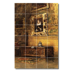 Picture-Tiles, LLC - Studio Interior Tile Mural By William Chase - * MURAL SIZE: 72x48 inch tile mural using (24) 12x12 ceramic tiles-satin finish.
