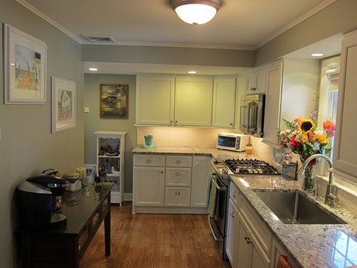 Our updated galley kitchen for Updated galley kitchen photos