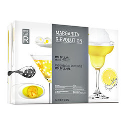 MOLECULE-R Flavors - Molecule-R Margarita R-Evolution Cocktail Kit - Infuse some fun into your favorite drinks and impress your family and friends with unique and delicious Margaritas like never before! This kit comes complete with all the tools you need to add flavor and visual potential to your cocktails and margaritas. Play with the texture of your cocktail to add an element of surprise with our brilliant R-Evolution cocktail kit typically found at high end restaurants and trendy bars. Whether serving a margarita slush topped with a fresh lemon mousse, or adding a splash of color with blue floating pearls that explode in the mouth, this set will bring your culinary creativity to the next level! Product features: * 10 additives sachets * Silicone mold, slotted spoon, 2 pipettes * 3 Molecular Margarita recipes A brilliant blend of chemistry and culinary skills, our Margarita R-Evolution kit will turn your home into an experimental science lab! Our wonderful style of preparation will dazzle your family with unexpected forms of floating clouds and creamy flavor.