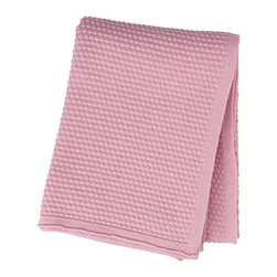 Louise Roe Design Essentials - Sailor Knit Cashwool Throw, Rose - Stay warm and stylish with this beautiful cash wool throw by Danish designer Louise Roe.