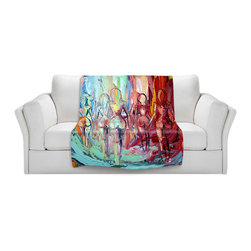 DiaNoche Designs - Throw Blanket Fleece - Exodus - Original artwork printed to an ultra soft fleece blanket for a unique look and feel of your living room couch or bedroom space. Dianoche Designs uses images from artists all over the world to create Illuminated art, canvas art, sheets, pillows, duvets, blankets and many other items that you can print to. Every purchase supports an artist!