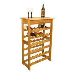 Catskill Craftsmen - Natural Hardwood 36-Bottle Wine Rack w Drawer - With a solid top for serving and a storage drawer for storing a corkscrew and other accessories, this hardwood wine rack will be an excellent addition to your kitchen or dining decor. It is finished in natural oil and is designed to hold up to 36 bottles of your favorite wine. Made of US hardwood. Oil finish. Bottle capacity: 36 standard wine bottles. Convenient drawer provides storage of bottle openers and gadgets. Made in the USA. Overall: 13 in. L x 24 in. W x 40 in. H (33 lbs.). Table top: 13 in. L x 24 in. W. Interior drawer: 9 in. L x 18.25 in. W x 3 in. HSolid domestic hardwood wine rack maximizes bottle storage. A handy drawer facilitates storage of cork screws, spare bottle stoppers, and the like.