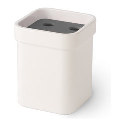 WS Bath Collections - Curva 5146 Toothbrush Holder, Dark Grey - Curva by WS Bath Collections, Tumbler / Toothbrush Holder, Available in White, Red, Brown, Orange, Pink or Dark Grey