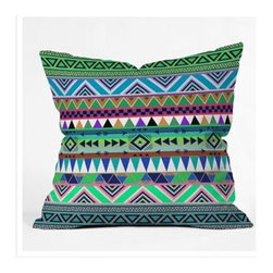 "DENY Designs - Bianca Green Esodrevo Throw Pillow - Wanna transform a serious room into a fun, inviting space? Looking to complete a room full of solids with a unique print? Need to add a pop of color to your dull, lackluster space? Accomplish all of the above with one simple, yet powerful home accessory we like to call the DENY Throw Pillow! Features: -Bianca Green collection. -Material: Woven polyester. -Sealed closure. -Spot treatment with mild detergent. -Made in the USA. -Closure: Concealed zipper with bun insert. -Small: 16"" H x 16"" W x 4"" D, 3 lbs. -Medium: 18"" H x 18"" W x 5"" D, 3 lbs. -Large: 20"" H x 20"" W x 6"" D, 3 lbs."