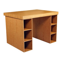 Venture Horizon - Venture Horizon Project Center with Two Shelving Cabinets-Oak - Venture Horizon - Work Table - 115233OA - Every home has it's hub. A central location for family projects or individual activities. Key to it's usefulness and enjoyment is the furniture being used. Is it functional versatile scalable and good looking? Will it organize and store all my required materials efficiently and close at hand? Our unique all-in-one project center sets a new standard in organizational furniture. not only will it dramatically increase everyone's productivity but do it in style to boot.