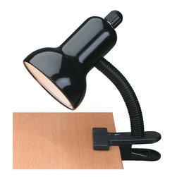 Lite Source - Gooseneck Clip Lite, Blk 60W - Gooseneck Clip Lite, Blk 60W