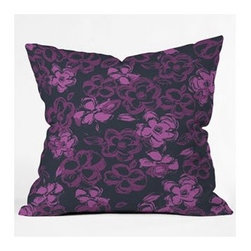 """DENY Designs - Khristian A Howell Russian Ballet 2 Throw Pillow - Wanna transform a serious room into a fun, inviting space? Looking to complete a room full of solids with a unique print? Need to add a pop of color to your dull, lackluster space? Accomplish all of the above with one simple, yet powerful home accessory we like to call the DENY Throw Pillow! Features: -Khristian A Howell collection. -Top and back color: Print. -Material: Woven polyester. -Sealed closure. -Spot treatment with mild detergent. -Made in the USA. -Closure: Concealed zipper with bun insert. -Small dimensions: 16"""" H x 16"""" W x 4"""" D, 3 lbs. -Medium dimensions: 18"""" H x 18"""" W x 5"""" D, 3 lbs. -Large dimensions: 20"""" H x 20"""" W x 6"""" D, 3 lbs."""
