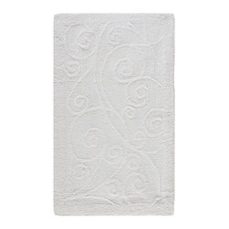 """Safavieh - Contemporary Plush Master Bath Oval 2'3""""x3'9"""" Oval White-White Area Rug - The Plush Master Bath area rug Collection offers an affordable assortment of Contemporary stylings. Plush Master Bath features a blend of natural White-White color. Machine Made of Cotton the Plush Master Bath Collection is an intriguing compliment to any decor."""