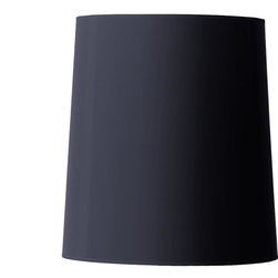 15&#34 Oversized Cone Drum Shade- Black or White -