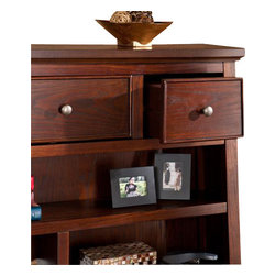 Holly and Martin - Mendell Hutch - Espresso - Make it easy to enjoy working at home by adding this stylish hutch to your office. The handy storage space and artistic, Eastern flair will bring you peace of mind at last.
