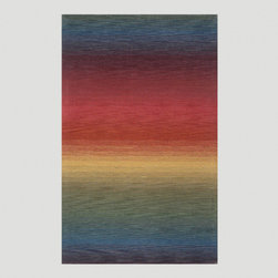 World Market - Ombre Stripes Multi Wool Rug - Our easy to decorate stripe pattern is made of 100% wool pile for softness and comfort. It's bright festive colorations add fun and color to any room. Many colors will easily coordinate with the multi colored rug.
