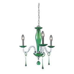 Eurofase Lighting - Eurofase Lighting 12392 Three Light Up Lighting Mini Chandelier from the Rottura - Three Light Mini Chandelier from the Rottura CollectionAn all-glass miniature chandelier delicately crafted with a combination of traditional and contemporary design.