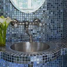 Eclectic Powder Room by Priti Tripathi Architects, Inc.