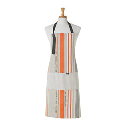 Ladelle - Nanterre Orange Apron - The Nanterre Collection is the perfect setting for any table or kitchen. Feautring crisp linen with orange striped detail. Coordinating kitchen accessories, placemats, table runner and napkins sold separately.