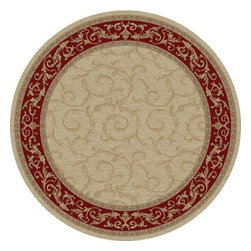 """Concord Global - Veronica Ivory 5'3""""X7'7"""" Rectangle Woven RugJewel Collection - Jewel collection is machine-made in Turkey using 100% heat-set polypropelene. These traditional to contemporary rugs will make a colorful addition to any area."""