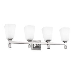 Murray Feiss - Murray Feiss Sophie 4 Bulb Polished Nickel Vanity Strip X-NP-40074SV - Murray Feiss Sophie 4 Bulb Polished Nickel Vanity Strip X-NP-40074SV