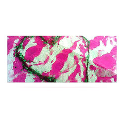 "Kess InHouse - Anne LaBrie ""Pink Tiger Love"" Pink Green Metal Luxe Panel (9"" x 21"") - Our luxe KESS InHouse art panels are the perfect addition to your super fab living room, dining room, bedroom or bathroom. Heck, we have customers that have them in their sunrooms. These items are the art equivalent to flat screens. They offer a bright splash of color in a sleek and elegant way. They are available in square and rectangle sizes. Comes with a shadow mount for an even sleeker finish. By infusing the dyes of the artwork directly onto specially coated metal panels, the artwork is extremely durable and will showcase the exceptional detail. Use them together to make large art installations or showcase them individually. Our KESS InHouse Art Panels will jump off your walls. We can't wait to see what our interior design savvy clients will come up with next."