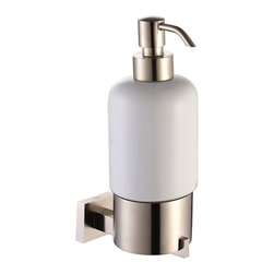 Kraus - Kraus Aura Bathroom Accessories - Wall-mounted Ceramic Lotion Dispenser Brushed - *Kraus  is the premier manufacturer and designer of the bath fixtures and accessories, offering top of the line products that showcase a deft blending of breakthrough technology and aesthetic ardor
