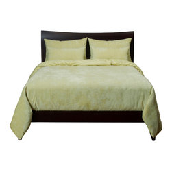 SIS Covers - SIS Covers Draper Dew Duvet Set - 6 Piece Full Duvet Set - 4 Piece Twin Duvet Set Duvet 67x88, 1 Std Sham 26x20, 1 26x14 dec pillow. 6 Piece Full Duvet Set Duvet 86x88, 2 Std Shams 26x20, 2 26x14 dec pillow. 6 Piece Queen Duvet Set Duvet 94x98, 2 Qn Shams 30x20, 2 26x14 dec pillow. 6 Piece California King Duvet Set Duvet 104x100, 2 Kg Shams 36x20, 2 26x14 dec pillow6 Piece King Duvet Set Duvet 104x98, 2 Kg Shams 36x20, 2 26x14 dec pillow. Fabric Content 1 96 Polyester 4 Nylon, Fabric Content 2 100 Polyester. Guarantee Workmanship and materials for the life of the product. SIScovers cannot be responsible for normal fabric wear, sun damage, or damage caused by misuse. Care instructions Machine Wash. Features Reversible Duvet and Shams.