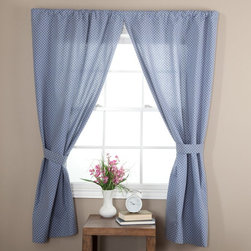 Ellis Curtain - Ellis Curtain Tyvek Tailored Curtain Panel with Ties - One Pair - T782-68X84-BLU - Shop for Curtains and Drapes from Hayneedle.com! About A.L. Ellis Inc.Established in 1920 by Arthur Linwood Ellis A.L. Ellis Inc. is a 5th generation family owned and operated manufacturing company. With their headquarters located less than an hour away from the manufacturing facility they can easily control the wholesale business and produce their mail order catalogs. Their hand-made products consist of curtains draperies top treatments bedding toss pillows and chair pads. The main objective for A.L. Ellis Inc. is to always provide customers with high-quality products at a competitive price and in a timely manner. Remaining committed to the customer A.L. Ellis Inc. is a trusted company you can count on. Begin decorating your house with any of their products!