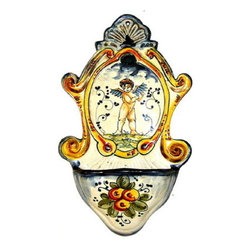 Artistica - Hand Made in Italy - TOSCANA: Small Holy Water fountain - TOSCANA Collection: Wall Decor... Tuscan style!