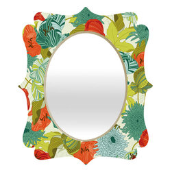 DENY Designs - Sabine Reinhart Flower Route Quatrefoil Mirror - Mirror, mirror on the wall. Who's the fairest one of all? We'll that's easy, the quatrefoil mirror collection, of course! With a sleek mix of baltic birch ply trim that's unique to each piece and a glossy aluminum frame, the rectangular mirror makes you feel oh so pretty every time you catch a glimpse. Custom made in the USA for every order.